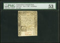 Colonial Notes:Connecticut, Connecticut June 1, 1780 20s PMG About Uncirculated 53, slash cancelled, hinged.. ...