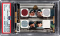 Golf Cards:General, 2003 SP Game Used Tiger Woods (Authentic Fabrics-Foursomes) #AFQTW PSA NM 7 - #1/25. ...