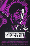 "Movie Posters:Action, Streets of Fire (Universal, 1984). Rolled, Very Fine. One Sheet (27"" X 41"") Advance, Purple Style. Action.. ..."