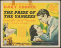 "Movie Posters:Sports, The Pride of the Yankees (RKO, 1942). Fine. Title Lobby Card (11"" X 14""). Sports.. ..."
