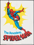 "Movie Posters:Action, The Amazing Spider-Man (Hudson Pharmaceuticals/Marvel Comics, 1975). Folded, Very Fine-. Promotional Poster (21.5"" X 28""). A..."