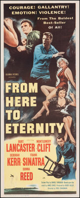 """From Here to Eternity (Columbia, 1953). Fine/Very Fine on Linen. Insert (14"""" X 36""""). Academy Award Winners..."""