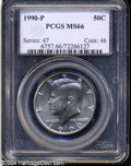 Kennedy Half Dollars: , 1990-P MS66 PCGS. ...