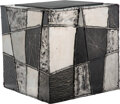 Furniture, Paul Evans (American , 1931-1987). Argente Cube, circa 1967. Welded and patinated aluminum, slate. 15-3/4 x 15-3/4 x 15-...