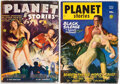 Pulps:Science Fiction, Planet Stories Group of 2 (Fiction House, 1945-47) Condition: FN+.... (Total: 2 Items)