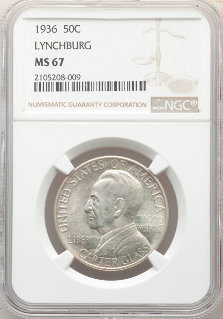 1936 50C Lynchburg, MS 67 NGC