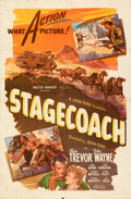 Movie Posters:Western, Stagecoach (United Artists, R-1944). Folded, Fine/Very Fin...