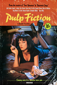 "Pulp Fiction (Miramax, 1994). Rolled, Very Fine. One Sheet (27"" X 40"") SS Withdrawn Advance, Lucky Strike Styl..."