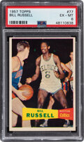 Basketball Cards:Singles (Pre-1970), 1957 Topps Bill Russell #77 PSA EX-MT 6....