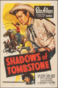 """Shadows of Tombstone & Other Lot (Republic, 1953). Folded, Very Fine. One Sheets (3) (27"""" X 41""""). Western..."""