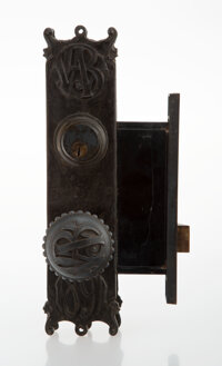 Louis H. Sullivan (American, 1856-1924) One Door Knob and Lock from the Wainwright Building, circa 1891
