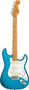 Musical Instruments:Electric Guitars, 1987 Fender Stratocaster '57 Reissue Lake Placid Blue Solid Body Electric Guitar, Serial #V030245.. ...