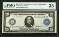 Large Size:Federal Reserve Notes, Fr. 975 $20 1914 Federal Reserve Note PMG Choice Very Fine 35.. ...