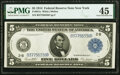 Large Size:Federal Reserve Notes, Fr. 851a $5 1914 Federal Reserve Note PMG Choice Extremely Fine 45.. ...