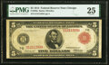 Large Size:Federal Reserve Notes, Fr. 838a $5 1914 Red Seal Federal Reserve Note PMG Very Fine 25.. ...