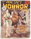 Pulps:Horror, Real Spicy Horror Tales - April 1937 (Yale Record) Condition: VG-....