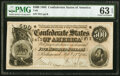Confederate Notes:1864 Issues, T64 $500 1864 PF-2 Cr. 489 PMG Choice Uncirculated 63 EPQ....