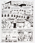 """Original Comic Art:Complete Story, Peter Bagge Reason Magazine Complete 4-Page Story """"Let's Ruin Cuba!"""" Original Art (Reason Foundation, 2016)... (Total: 4 Original Art)"""