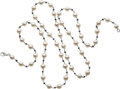 Estate Jewelry:Necklaces, Colored Diamond, Diamond, Cultured Pearl, White Gold Neckl...