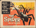 "Movie Posters:Horror, The Spider (American International, 1958). Rolled, Fine. Half Sheet (22"" X 28""). Horror.. ..."