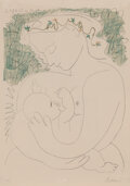 Prints & Multiples, After Pablo Picasso . Grande Maternité, 1963. Lithograph in colors on wove paper. 35 x 24-3/4 inches (88.9 x 62.9 cm) (s...