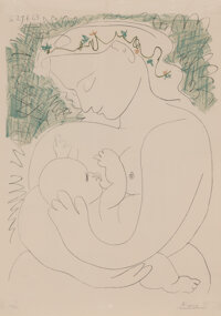 After Pablo Picasso Grande Maternité, 1963 Lithograph in colors on wove paper 35 x 24-3/4 inches