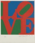 Prints & Multiples, Robert Indiana (1928-2018). Untitled, from The Book of Love, 1996. Screenprint in colors on paper. 18 x 18 inches (4...