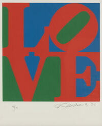 Robert Indiana (1928-2018) Untitled, from The Book of Love, 1996 Screenprint in colors on