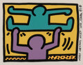 Prints & Multiples, Keith Haring (1958-1990). Untitled, from Pop Shop I, 1987. Screenprint in colors on wove paper. 12 x 15 inches (30.5...