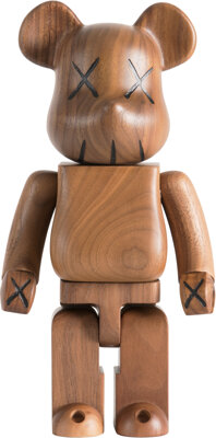 KAWS X BE@RBRICK BWWT 400%, 2005 Karimoku wood 10-3/4 x 5-1/4 x 3-1/2 inches (27.3 x 13.3 x 8.9 c