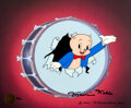 """Animation Art:Limited Edition Cel, """"Stars of Termite Terrace II - Porky Pig"""" Limited Edition Cel Signed by Maurice Noble #30/100 (Warner Brothers, 2001).... (Total: 3 Items)"""