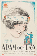 "Movie Posters:Comedy, Adam and Eva (Paramount, 1923). Rolled, Very Fine-. Swedish One Sheet (23.5"" X 35.5"") Eric Rohman Artwork. Comedy.. ..."