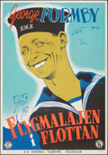 "Movie Posters:Comedy, Bell-Bottom George (Columbia, 1945). Flat Folded, Very Fine. Swedish One Sheet (27.5"" X 39.5"") Eric Rohman Artwork. Comedy...."