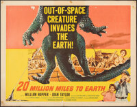 """20 Million Miles to Earth (Columbia, 1957). Rolled, Fine+. Half Sheet (22"""" X 28"""") Style A. Science Fiction..."""
