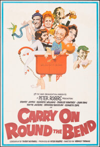 "Carry on Round the Bend (Rank, 1971). Folded, Very Fine-. British One Sheet (27"" X 40""). Comedy"