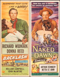 """Movie Posters:Western, Backlash & Other Lot (Universal International, 1956). Folded, Very Fine-. Inserts (5) (14"""" X 36""""). Western.. ... (Total: 5 Items)"""