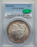 Morgan Dollars, 1878 8TF $1 Doubled Date, VAM-18, MS63 PCGS. CAC. PCGS Population: (64/58). NGC Census: (108/50). MS63. ...