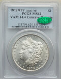 Morgan Dollars, 1878 8TF $1 Concave Reverse, VAM-14.4, MS62 PCGS. CAC. A Hot 50 Variety. PCGS Population: (40/40). NGC Census: (20/22). MS6...