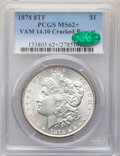 Morgan Dollars, 1878 8TF $1 VAM-14.10, Cracked Bonnet MS62+ PCGS. CAC. PCGS Population: (12/20 and 4/0+). NGC Census: (5/4 and 0/0+). MS62....