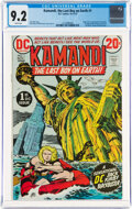 Bronze Age (1970-1979):Science Fiction, Kamandi, the Last Boy on Earth #1 (DC, 1972) CGC NM- 9.2 White pages....