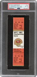 Football Collectibles:Tickets, 1981 NFC Championship Game Full Ticket, PSA NM-MT 8 - The Catch!...