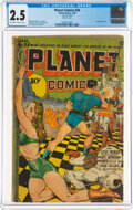 Golden Age (1938-1955):Science Fiction, Planet Comics #34 (Fiction House, 1945) CGC GD+ 2.5 Off-white to white pages....