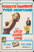 """Movie Posters:Comedy, Let's Make Love (20th Century Fox, 1960). Folded, Fine-. One Sheet (27"""" X 41""""). Comedy.. ..."""