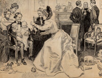 Charles Dana Gibson (American, 1867-1944) The Education of Mr. Pipp Ink on board 23 x 30 inches (