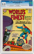 Silver Age (1956-1969):Superhero, World's Finest Comics #94 (DC, 1958) CGC FN- 5.5 Off-white to white pages....