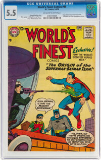 World's Finest Comics #94 (DC, 1958) CGC FN- 5.5 Off-white to white pages