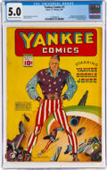 Golden Age (1938-1955):Superhero, Yankee Comics #1 (Chesler, 1941) CGC VG/FN 5.0 Cream to off-white pages....
