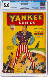 Yankee Comics #1 (Chesler, 1941) CGC VG/FN 5.0 Cream to off-white pages