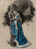 Paintings, Frederic Andrew Anderson (American, 1894-1950). Couple Embracing. Oil on canvas. 30 x 22 inches (76.2 x 55.9 cm). Signed...