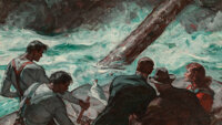Saul Tepper (American, 1899-1987) Rapids, 1939 Oil on canvas 23 x 40 inches (58.4 x 101.6 cm)